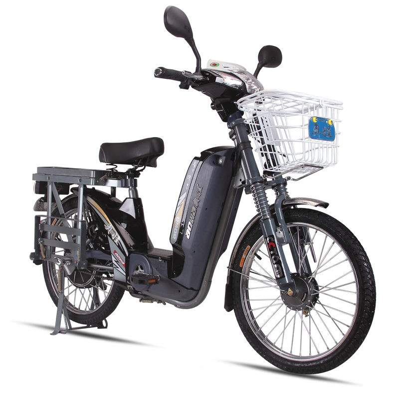 60V Battery Power Adult Electric Bike ,  Electric Powered Bicycle With Open Rear Rack
