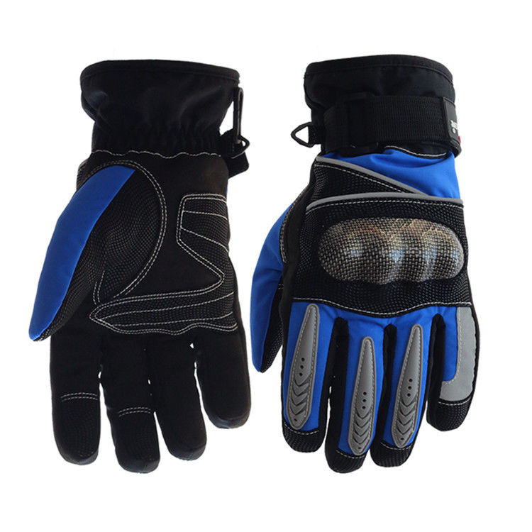 Palm - Microfiber Electric Motorcycle Parts Blue / Black Electric Motorcycle Gloves